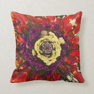 Abstract Flower Decorative Pillow