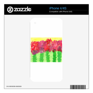 Abstract Flower Design from Original Painting iPhone 4 Skin