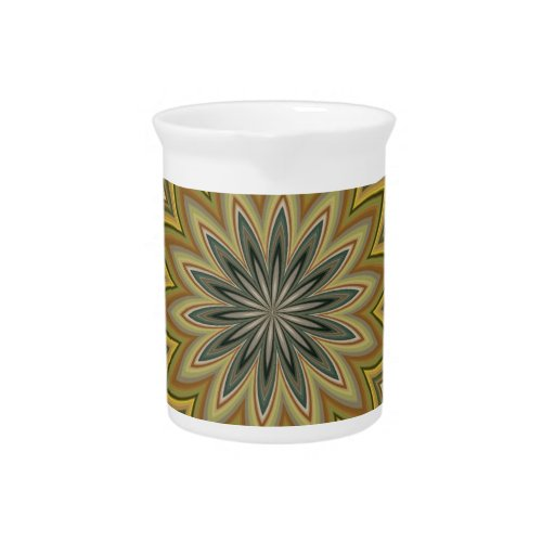 Abstract Flower Drink Pitchers