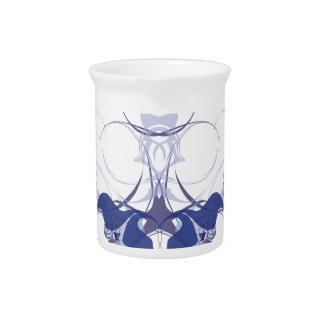 Abstract flower elements beverage pitchers
