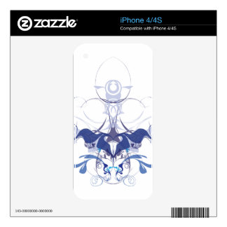 Abstract flower elements decal for the iPhone 4S