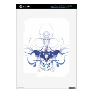 Abstract flower elements iPad 3 skin