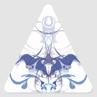 Abstract flower elements triangle sticker