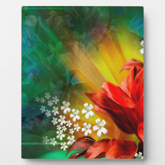 Abstract Flower Full Bloom Plaques