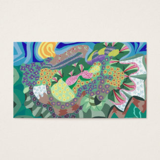 Abstract Flower Garden Artist Trading Card