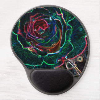 Abstract Flower Gel Mouse Pads