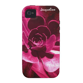 Abstract Flower - Hot Pink Petals iPhone 4/4S Case