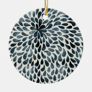 Abstract Flower Iamge Ceramic Ornament