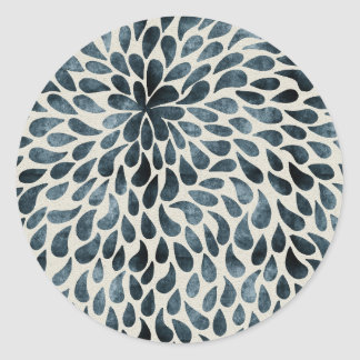 Abstract Flower Iamge Classic Round Sticker