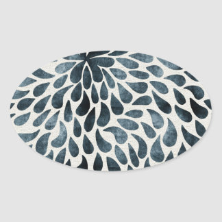 Abstract Flower Iamge Oval Sticker