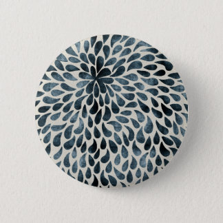 Abstract Flower Iamge Pinback Button