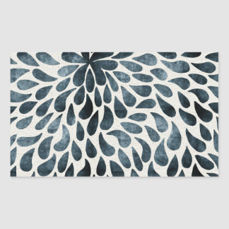 Abstract Flower Iamge Rectangular Sticker