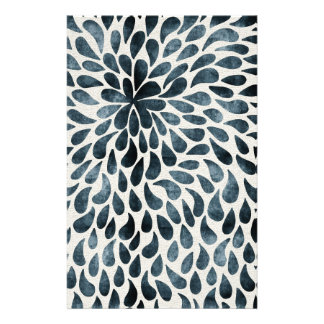 Abstract Flower Iamge Stationery