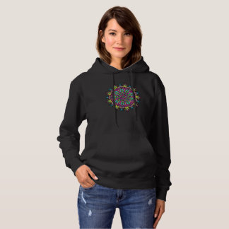Abstract Flower Illustration Hoodie