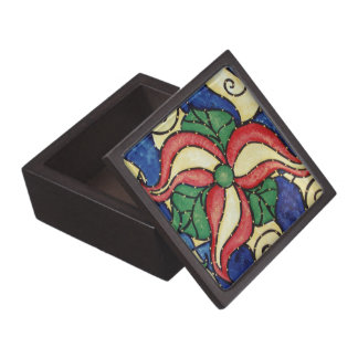 Abstract Flower Jewelry Box
