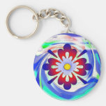 Abstract flower keychain