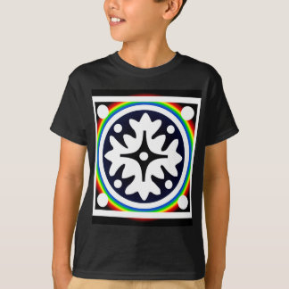 Abstract Flower Leaves Design T-Shirt
