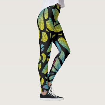 Abstract Flower Leggings