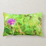 Abstract Flower Lumbar Pillow