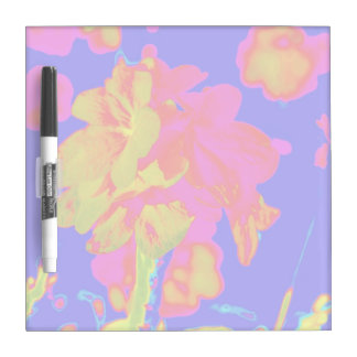 abstract flower magenta blue colorful floral image dry erase whiteboards