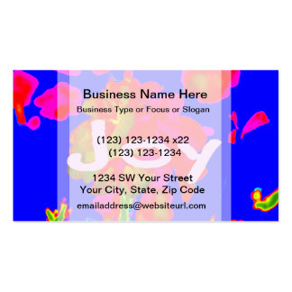 abstract flower magenta blue joy business card