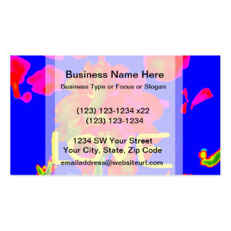 abstract flower magenta blue love copy.jpg Double-Sided standard business cards (Pack of 100)