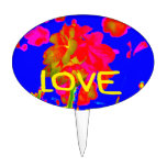 abstract flower magenta blue love copy.jpg cake topper