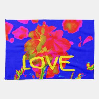 abstract flower magenta blue love copy.jpg kitchen towel