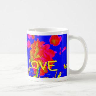 abstract flower magenta blue love copy.jpg classic white coffee mug
