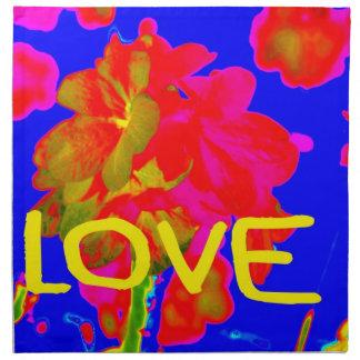 abstract flower magenta blue love copy.jpg cloth napkin