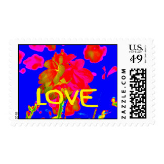 abstract flower magenta blue love copy.jpg postage stamps