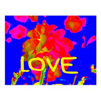abstract flower magenta blue love copy.jpg postcard