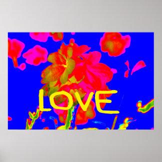 abstract flower magenta blue love copy.jpg poster