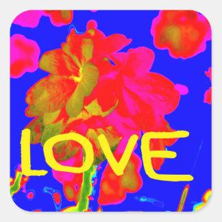abstract flower magenta blue love copy.jpg square sticker