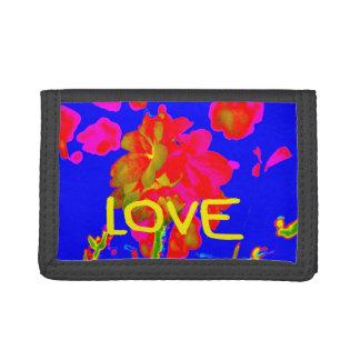 abstract flower magenta blue love copy.jpg tri-fold wallets