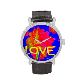 abstract flower magenta blue love copy.jpg wristwatches