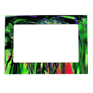 Abstract Flower Magnetic Frame