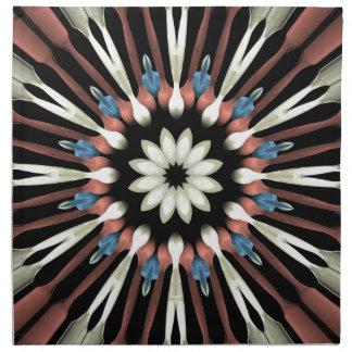Abstract Flower Mandala Napkin