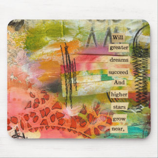 abstract flower mousepad