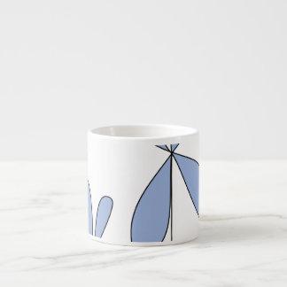Abstract flower mug 6 oz ceramic espresso cup