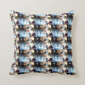 Abstract Flower Painting Throw Pillow