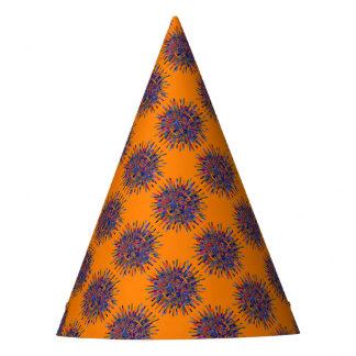 Abstract Flower Party Hat