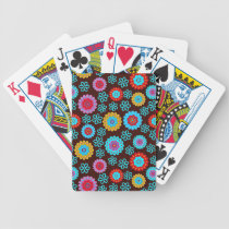 Abstract Flower Pattern Bicycle Playing Cards
