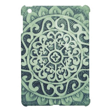 Aztec Themed Abstract Flower Pattern Case For The iPad Mini