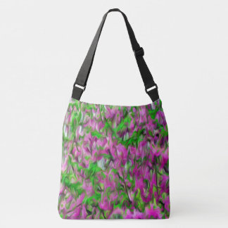 Abstract Flower Pattern Crossbody bag and totes