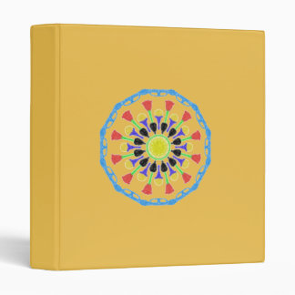 Abstract flower pattern vinyl binder