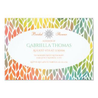 Abstract Flower Petals-3x5Bridal Shower Invitation