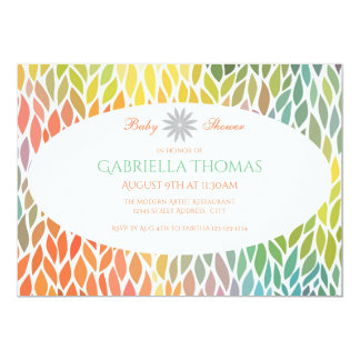 Abstract Flower Petals - Baby Shower Invitation