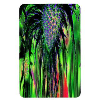 Abstract Flower Rectangular Photo Magnet