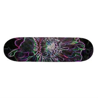 Abstract Flower Custom Skate Board